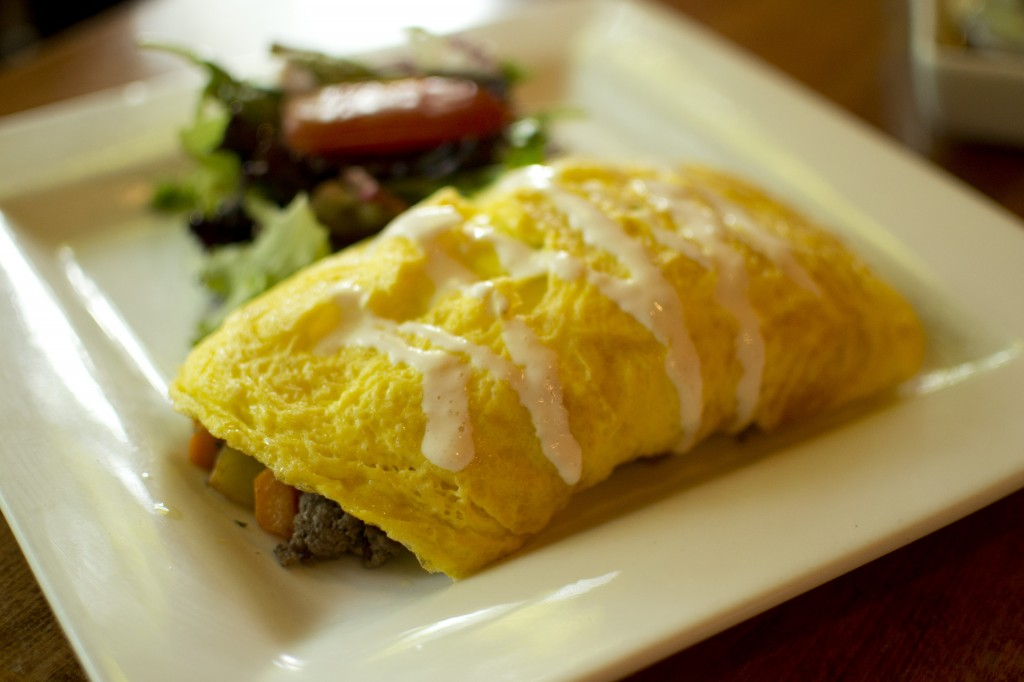 Root Veggie Omelet with Beef